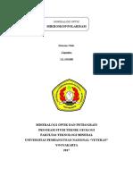 Cover Resume Mineralogi Optik Dan Petrografi