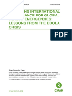 Improving International Governance for Global Health Emergencies