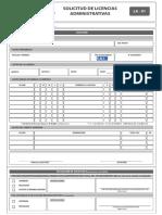 LA-01 - Solicitud de Licencias Administrativa
