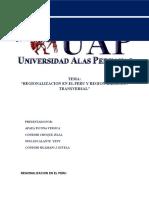 Regionalizacion en El Peru