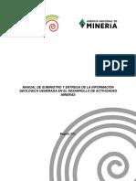 Manual de Suministro y Entrega de La Información Geológica