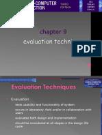Chapter 09. Evaluation Techniques