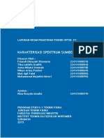 Laporan Praktikum Teknik Optik - P1 Karakterisasi Spektrum Sumber Cahaya