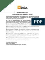 INFORMACIÓN IMPORTANTE - SOBRE PROYECTO EN BARBADOS Y GUYANA (1)