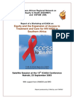 Equity and the Expansion of Access to Treatment and Care for HIV/AIDS in Southern Africa