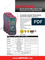 AM-100, AM-105, And AM-110 Digital Multimeters
