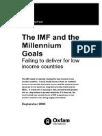 The IMF and the Millennium Development Goals