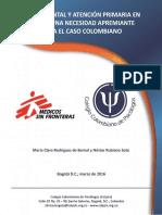 Salud Mental y Atención Primaria en Salud Una Necesidad Apremiante Para El Caso Colombiano
