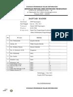 Daftar Hadir Yang diperlukan pd Akreditasi (No. 2,4,6,15,28,55,104,105,106,122,124,144,159,160, 1