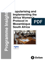 Popularising and Implementing the Africa Women's Protocol in Mozambique and South Africa