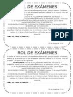 ROL DE EVALUACIONES 1° ALBARRACIN.