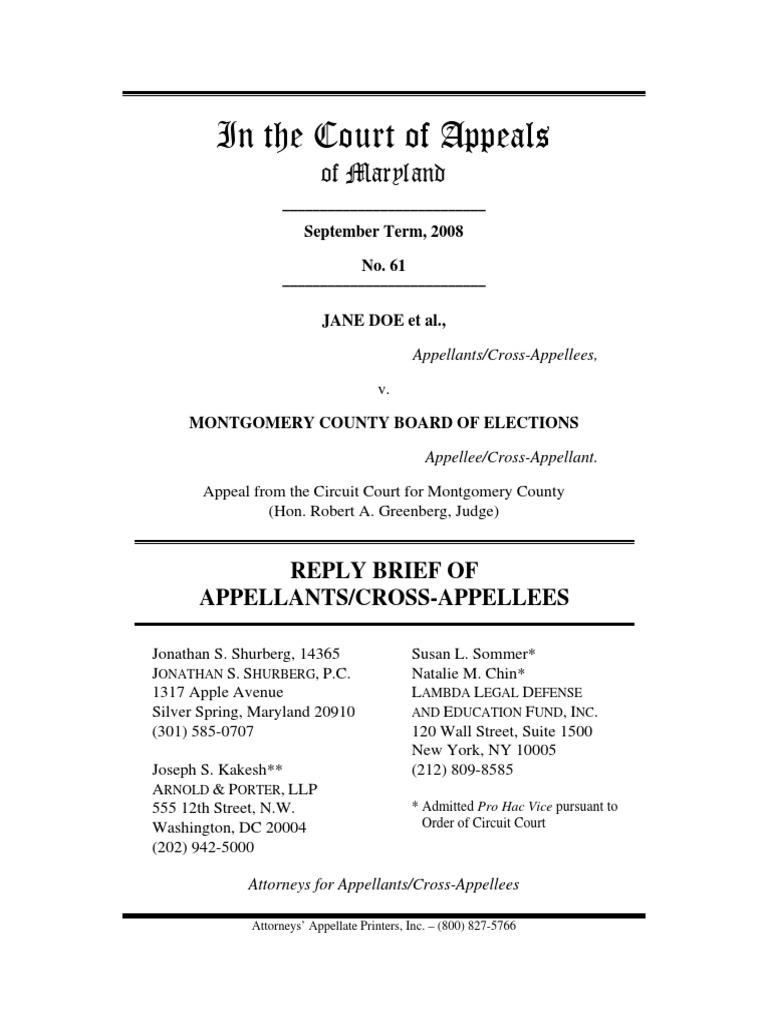 Mont co Transgender Bathroom Case-plaintiffsreplybrief