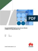 SmartAX MA5800 Multi-service Access Module V100R1017C10 Specification List