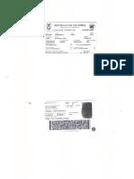 Licencia de Transito - Placa WCX636