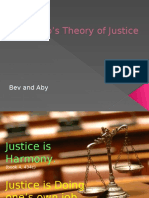 Platos Theory of Justice