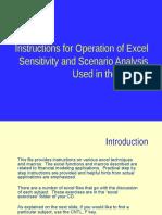 Exel Background - Senario and Sensitivity