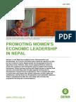 Promoting Women's Economic Leadership In Nepal