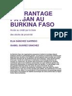 'Warrantage' in Burkina Faso