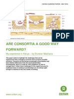 Are consortia a good way forward?