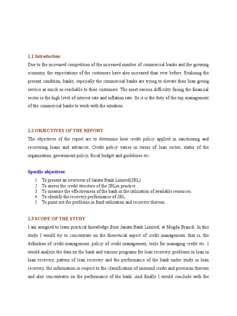 scope of credit management