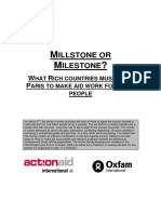 Millstone or Milestone? What rich countries must do in Paris to make aid work for the poor