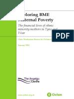 Exploring BME Maternal Poverty