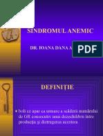 Curs 7 Sindromul Anemic