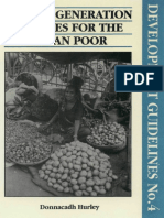 Income Generation Schemes for the Urban Poor