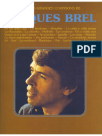 Jacques Brel French Chansons
