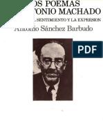 Sanchez Barbudo, Antonio - Los Poemas de Antonio Machado
