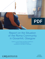 Situation of the Roma Community in Govanhill, Glasgow