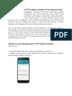 Cara Menggunakan HTTP Injector Android Untuk Internet Gratis.docx