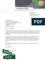 3. Cover Letter Sample for Sales