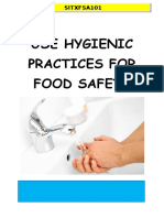use hygienic practices for food safety