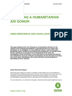 Russia as a Humanitarian Aid Donor