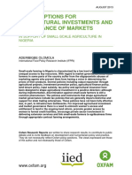 Policy Options for Agricultural Investments and Governance of Markets