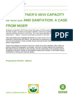 Niger Partner's New Capacity in Water and Sanitation