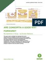 Are consortia a good way forward?