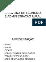 Economia e Administracao Rural