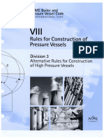 ASME Section VIII Rules for Construction of Pressure Vessels Division 3