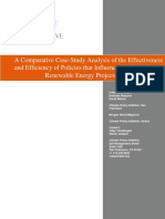Comparative Study of Renewable Policies in Relation to Finance in US