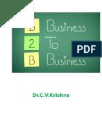 B2B Marketing Notes Dr C V Krishna