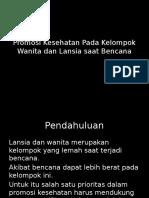 11. Promosi Kesehatan Pada Kelompok Wanita Dan Lansia