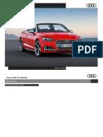Listino Prezzi Audi S5 Cabrio 2017