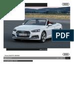 Listino Prezzi Audi A5 Cabrio 2017