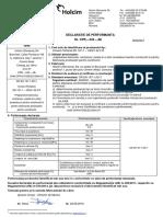 Declaratie de Performanta - Holcim - Ciment 42.5 R