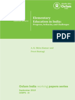 Elementary Education in India