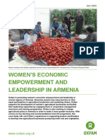 Women's Economic Empowerment and Leadership in Armenia