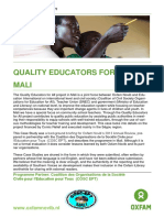 Quality Educators for All in Mali
