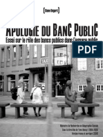 APOLOGIE DU BANC PUBLIC